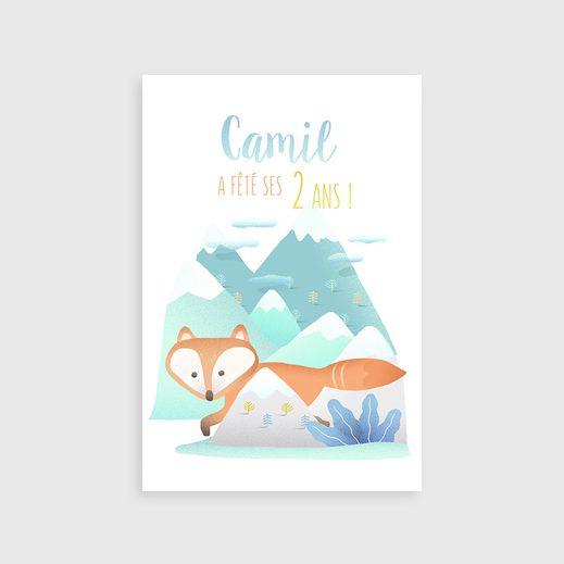 Carte d'anniversaire renard