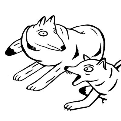 vignette coloriage animaux chiens
