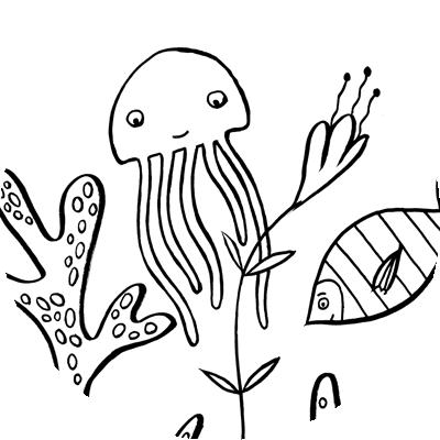 vignette coloriage animaux pieuvre