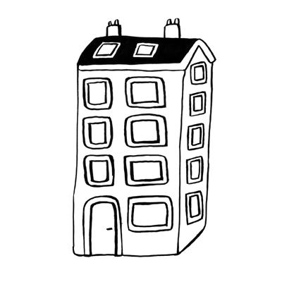 vignette coloriage immeuble