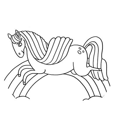 dessin de cheval pour coloriage