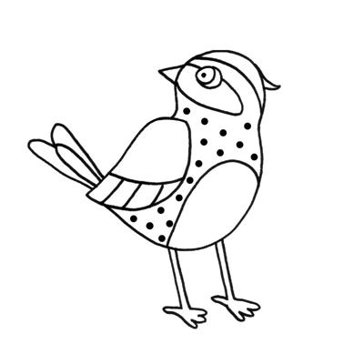 Dessin d'oiseau pour coloriage