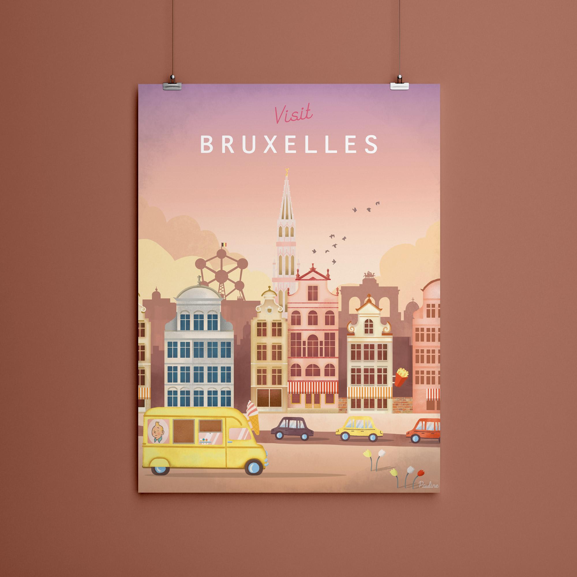 Affiche Visit Bruxelles