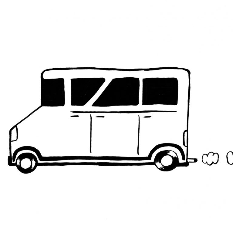 dessin de bus pour coloriage